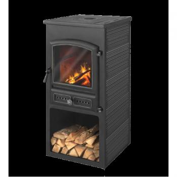 Печь-Камин Этна (БКД) с плитой Атрацит высокий