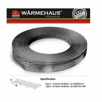 Монтажная лента Warmehaus В20 - шаг крепления 2 см